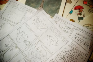 Some initial storyboards and artwork by Paul Wood