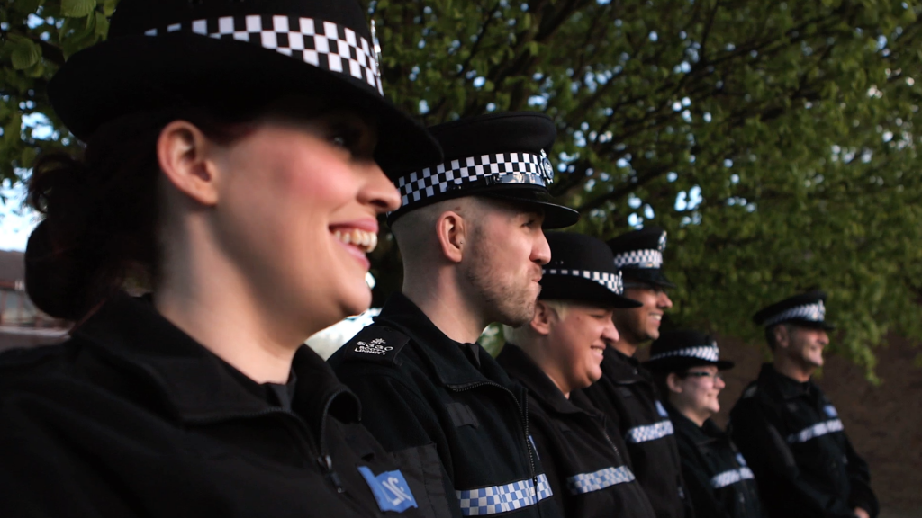 Real people make a difference like the special constables seen here posing for a photograph as part of the couldyou campaign.