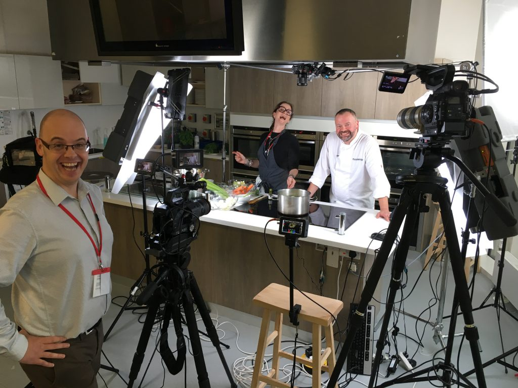 Food filming: on set with MGL Media.